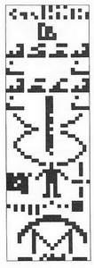 Visual representation of the message broadcast by man out of Arecibo (1974)