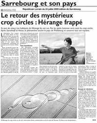 Local newspaper (July 24, 2009)