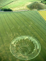 « Mayan mask » appeared on July 5, 2009, pointed towards Silbury hill