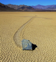 Sliding stone in the Death Valley